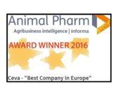 Ceva recibe el Animal Pharm 2016 a la mejor empresa europea