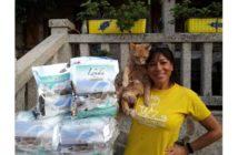 Lenda dona 3.000 kg de comida a 10 protectoras de gatos
